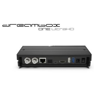 Dreambox One Ultra HD 2x DVB-S2X Multistream Tuner 4K 2160p E2 Linux Dual Wifi H.265 HEVC