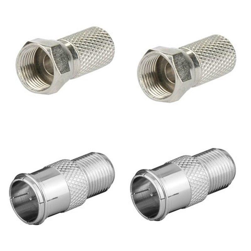 4x Gummitülle für F-Stecker UV und Witterungsbeständig 4x F-Stecker 7mm