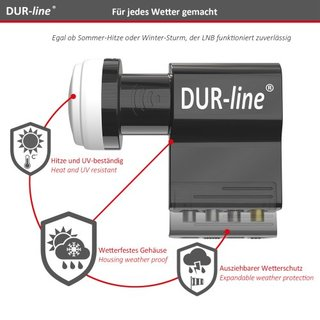 DUR-line UK 104 - Unicable LNB 0.1 db 4K / 8K UHDTV tauglich