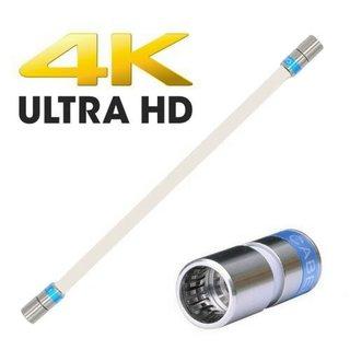 Cabelcon F-SC-56-CX3 5.1 Short F-Quick Satkabel Antennenkabel 2 Meter 135 dB HD